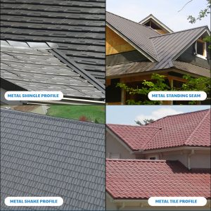 Metal Roofs Come in many styles, colors, and patterns